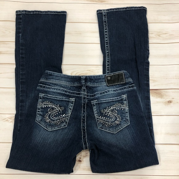 Silver Jeans Denim - Silver Suki Blingy Pocket Boot Cut Jeans